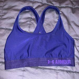 Under Armour Medium Support Sports Bra Dark Blue